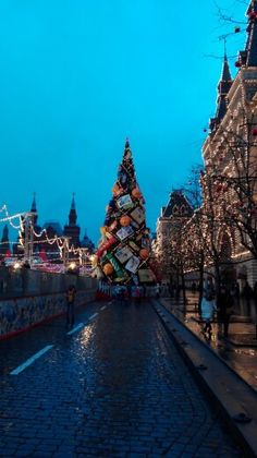 Christmas in Red Square Moscow
