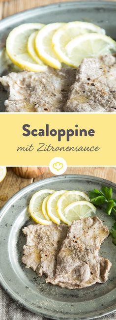 Wenn dir das Leben Kalbsschnitzel gibt, dann mach es wie die Italiener und pack Zitronen drauf. So hast du ratzfatz ein wunderbar sommerliches Fleischgericht! Hmm… köstlich!