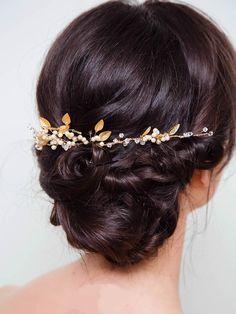 Gold Vine Headpiece Gold Wedding Hair by DavieandChiyo on Etsy