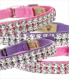 Big Crystal Dog Collars