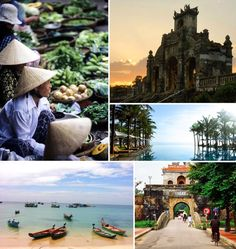 In Hue, we'd rent bicycles and explore the fortified Imperial city, before heading south. Along the way, we'd take time to relax at one of the resorts along the 400-mile stretch from Hue to Nha Trang, and board boats to go diving in the clear life-filled waters around offshore archipelagos.