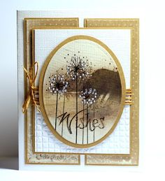 """Gorgeous card by Birgit Edblom! I love the amazing details such as the liquid pearls on the flowers and twine in the background. The flower and sentiment are from the new """"Wishes"""" stamp set. http://www.techniquetuesday.com/Nature/Wishe.html"""