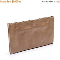 Golden Leather Wallet / Checkbook Wallet / Women Sand Purse / Unisex Wallet / Card Slot Wallet / Coins Wallet / Compartments Wallet - Efika