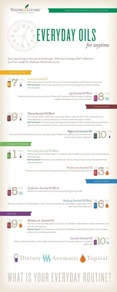young living essential oils - oil every day - health and wellness - daily regimen