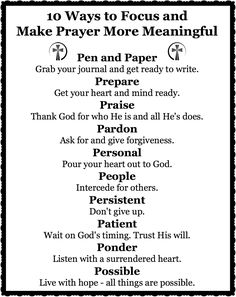 10 Ways to Focus and Make Prayer More Meaningful - Counting My Blessings
