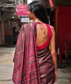 Dabu printed silk.....