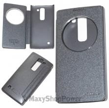 NILLKIN CUSTODIA ORIGINALE SPARKLE LEATHER FLIP CASE BOOK COVER LG SPIRIT NERA BLACK - SU WWW.MAXYSHOPPOWER.COM
