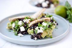 Rich In Protein, Ripe Avocado, Fresh Coriander, Freshly Baked, Black Beans, Healthy Fats, Tofu, Feta, Plant Based