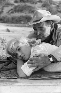 Clark Gable and Marilyn Monroe in The Misfits (1961) so pretty