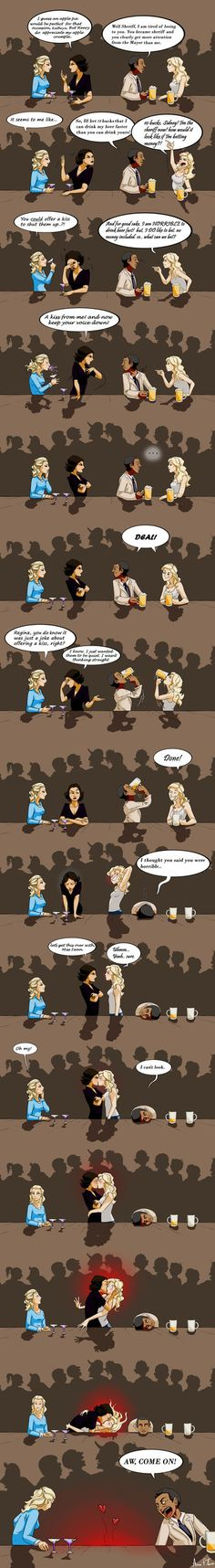 Swanqueen a SQ comic it took me 5 days to make. jeez. but it was REALLY fun to make (I do not own any of the chars, just me having some fun) uh and it is also based on a real story of mine XD just ...