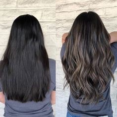 Black Coffee Hair With Ombre Highlights - 10 Cool Ideas of Coffee Brown Hair Color - The Trending Hairstyle Brown Blonde Hair, Hair Color For Black Hair, Brown Hair Colors, Brunette Hair, Balayage Black Hair, Dark Ash Brown Hair, Ash Brown Balayage, Black To Blonde Hair, Ashy Hair