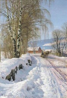 Peder Mørk Mønsted (1859-1941): from Skogli, Lillehammer, 1918