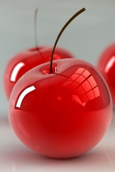 """Red Cherries Glass Art - """"And Allah has created you and what you make."""" Surah…"""