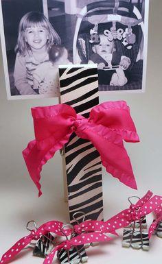 Zebra Print Jumbo Clothes Pin and matching Binder by ThePoshShoppe, $12.00