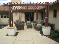 picture of pergolas around patio block | Backyard Kitchen | Outdoor Kitchen | Santa Barbara | Ventura | Down to ...