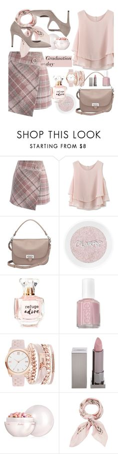 """""""Graduation day"""" by paperdolldesigner ❤ liked on Polyvore featuring Chicwish, Aspinal of London, Refuge, Essie, A.X.N.Y., Lipstick Queen, Guerlain, Manipuri and Jimmy Choo"""