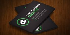 triple thick business card design 3