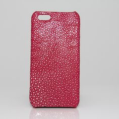 Coque en Galuchat poli Luxe pour iPhone 5/5s - Fushia
