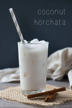 Cajun Delicacies Is A Lot More Than Just Yet Another Food Coconut Horchata-Tastes Just Like A Rice Pudding Milkshake, With A Hint Of Tropical Coconut Fresco, Coconut Milkshake, Mexican Food Recipes, Dessert Recipes, Brunch Recipes, Horchata Recipe, Coconut Milk Recipes, Smoothie Drinks, Smoothies