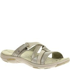 Efficient Merrell Brown Leather Encore Slip On Sandals Womens 10m Sales Of Quality Assurance Women's Shoes