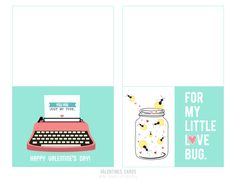 Free Valentine's Day Cards {free printable}
