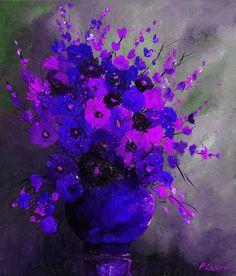P. Ledent--lavender, purple, blue, grey