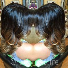 High contrast hand painted balayage ombre. hair by Rachel Fife @ SF Salon
