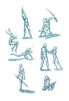 Image result for how to draw action poses sword