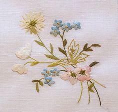 Em's Heart Antique Linens -Antique Society Silk Embroidered Linen Tea Napkins