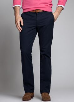 Jet Blues | Bonobos 100% Cotton Straight Leg Navy Washed Chinos - Bonobos Men's Clothes - Pants, Shirts and Suits
