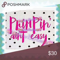 "💓""Primpin' Aint Easy"" black polka dot Art Print💓 💓"" Primpin' Ain't Easy "" pink with black polka dot fashion Canvas Painted Art Print💓Fashion Wall Art Paint Print🐾💜  💟😃Art print created by me!😍 Purchase & receive a HIGH QUALITY 8"" X 11 {Letter} SIZE~art print of my creation!☺️  💋Print is unframed~Frame=$10 each❤️  💄Perfect for wall decor, bathrooms, closets, next to your vanity, table tops,even to spruce up your office at work!MANY different places to hang art😍💄  💖MAKE FAIR…"