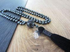 108 Mala necklaceHematite 108 mala beadsHand di Laboratorio7Bijoux