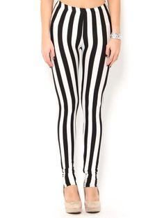 Vertical #Stripe Leggings Cute Leggings, Knit Leggings, Striped Leggings, Tight Leggings, Stripe Pants, Roller Derby, Vertical Stripes, Floral Stripe, Hot Pants