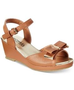 Michael Kors Girls' or Little Girls' Cate Millie Sandals - Brown 13