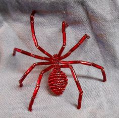 Beaded Spider pin accessory - large