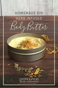DIY Herb Infused Whipped Body Butter • pronounceskincare.com