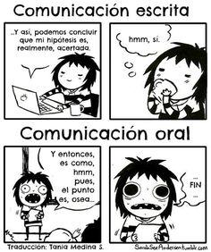 Comunicación escrita y oral. #humor #risa #graciosas #chistosas #divertidas