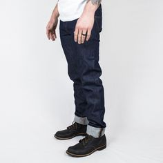 038c6300cd The Tellason Stock Slim Tapered jeans are made in San Francisco