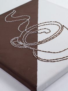 Hand Embroidery Designs, Embroidery Art, Coffee Art, Espresso Coffee, Iced Coffee, Outline Art, Simple Line Drawings, Diy Canvas Art, Mini Paintings