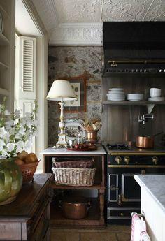 Kitchen Design Ideas with Stone Walls 3