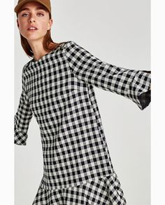Image 2 of GINGHAM CHECK DRESS from Zara