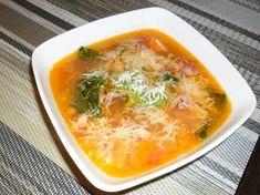 Olasz zöldségleves | Scriptum receptje - Cookpad receptek Cheeseburger Chowder, Thai Red Curry, Pesto, Bacon, Soup, Ethnic Recipes, Soups, Pork Belly