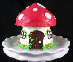Very creative!  Invert the base of the giant cupcake to make a house shape!