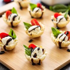 Fresh, summery caprese salad stuffed into a mini phyllo cup and drizzled with balsamic glaze! An easy to make one bite appetizer!