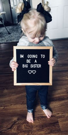 Party of / Baby / New Years / Pregnancy Announcement / baby / pregnant / big sister Baby Number 2 Announcement, Second Pregnancy Announcements, Big Sister Announcement, Pregnancy Tips, Pregnancy Announcement To Siblings, Cute Baby Announcements, Pregnancy Costumes, Ectopic Pregnancy, Pregnancy Workout