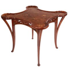 Art Nouveau Games Table by, Camille Gauthier | From a unique collection of antique and modern game tables at http://www.1stdibs.com/furniture/tables/game-tables/