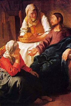 Christ in the House of Mary and Martha, by Johannes Vermeer - Nat. Gallery of Scotland, Edinburgh (1654 - 1655)