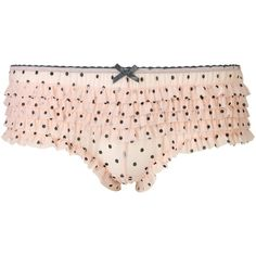 Accessorize Polka Dot Mesh Frilly Briefs ($2.99) ❤ liked on Polyvore featuring intimates, panties, underwear, lingerie, underthings, pink and black lingerie, frilly lingerie, ruffle knickers, ruffle lingerie and underwear lingerie