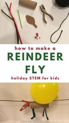 Flying Reindeer: Christmas STEM for Kids