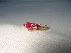 Beautiful Estate 14K Yellow Gold Diamond Ruby Three by ggemsonline, $595.00